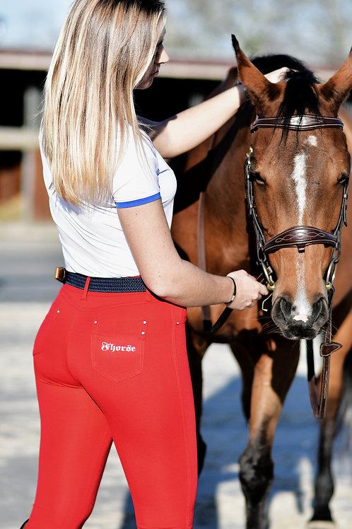 Pantalon Fhorse Basic Rouge / Silver