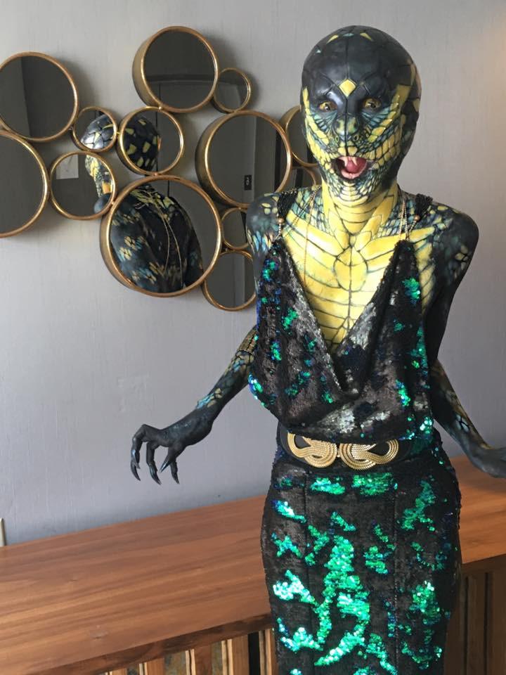 V Nixie as the Snake Woman