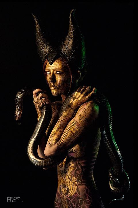 V Nixie with a snake body painted