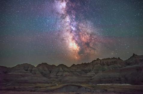 Badlands National Park After Dark