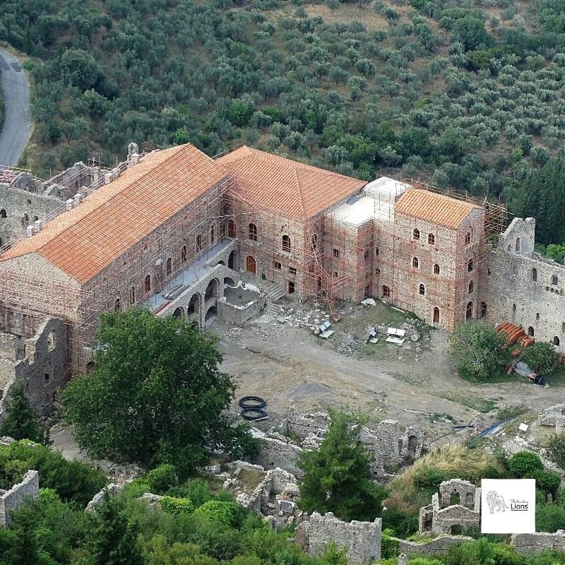 Les Palais des Despotes, dans la Ville haute de Mystra