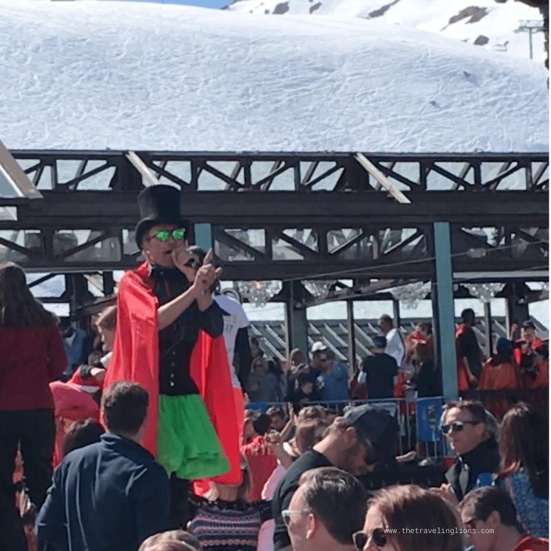 Ambiance délirante à la folie douce, en haut des pistes de Val d'Isère