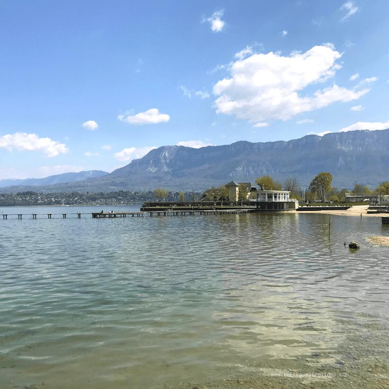 Le lac du Bourget, en France
