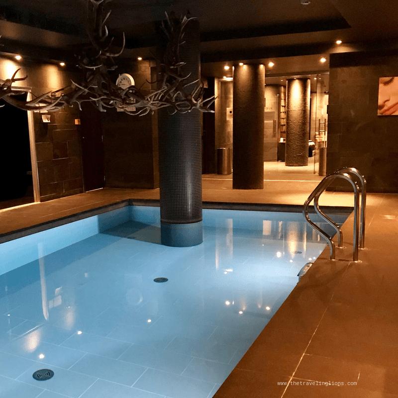 Le spa splendide et design de l'hôtel avenue Lodge à val d'Isère (Tignes) , la station de ski chic et mondialement connue des alpes du nord de la France