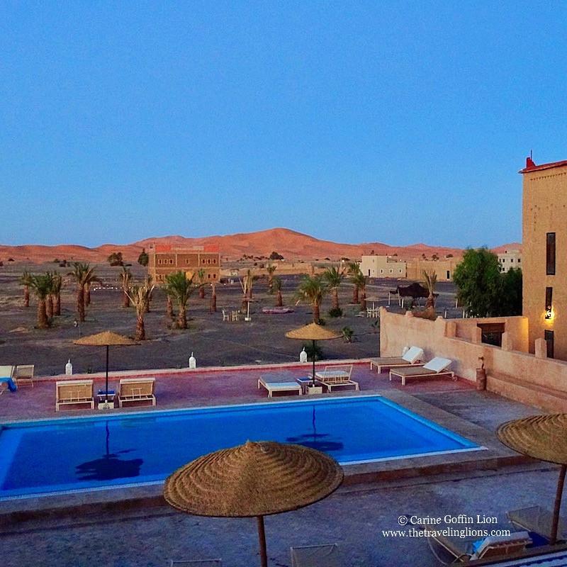 heure bleue à Merzouga, Riad Madu