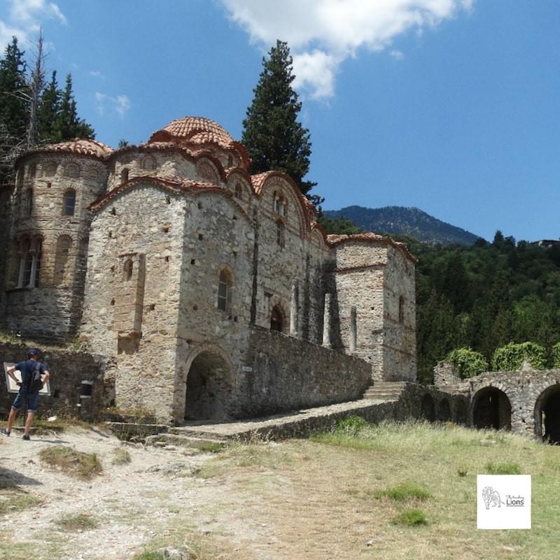 église de l'hogiditria, peloponnese, mistral, en grece