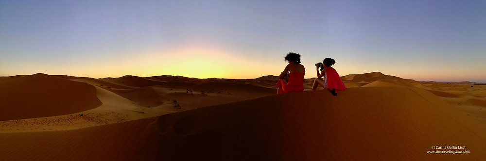 lever de soleil sur le s dunes de l'Erg Chebbi