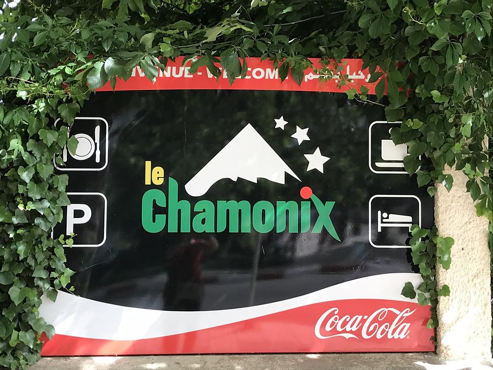 pancarte publicitaire, le Chamonix, ifrane, Maroc