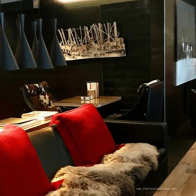 Deco design, chic et raffinée de l'hôtel avenue Lodge à val d'isere