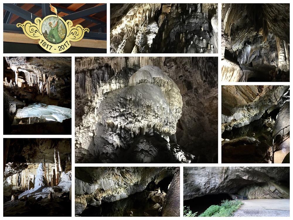 Intérieur des grottes de Han-sur-Lesse