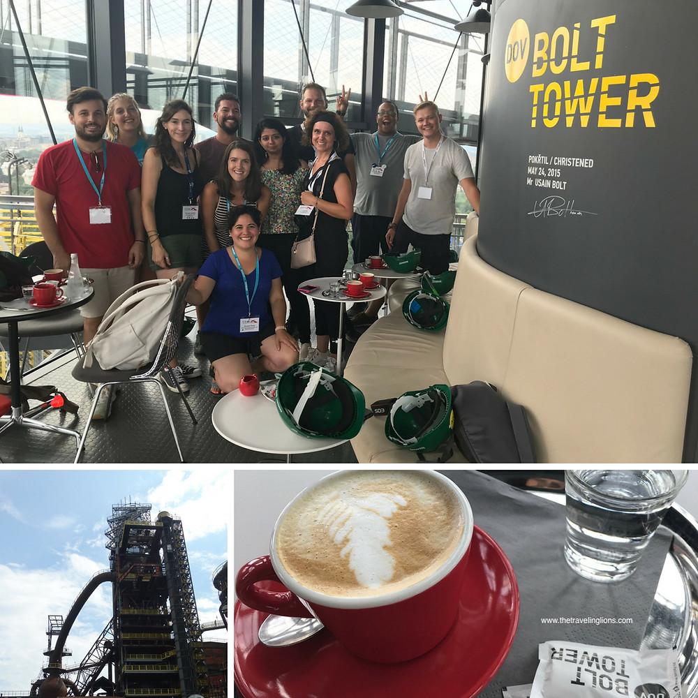 Où boire un verre à Ostrava ? En haut de la Bolt Tower, dans le café Bolt.
