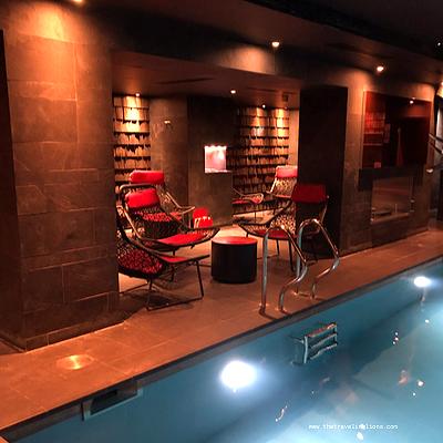 le spa et la piscine de l'hôtel avenue Lodge, hôtel de luxe 5 étoiles à val d'Isère, en haute tarentaise (Espace Killy (Tignes)