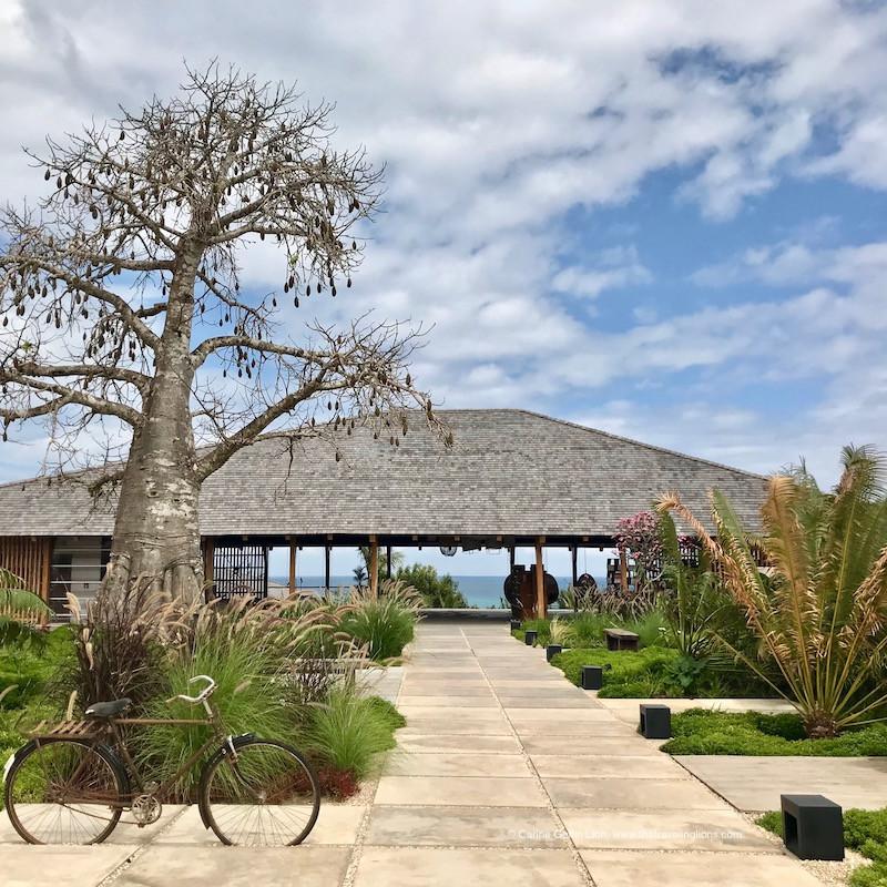 L'entrée (lobby) du tout nouvel hôtel boutique 5 étoile de Zanzibar: le Zuri