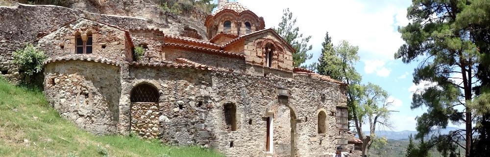 Une autre vue du Peribleptos et de son environnement naturel, Mystras, peloponnese