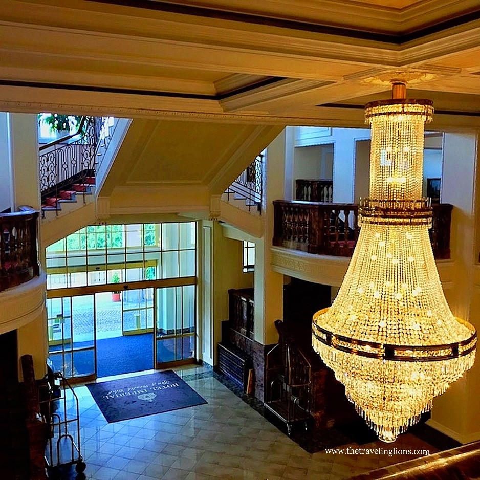 Hall d'entrée de l'hôtel Imperial, a Karlovy Vary