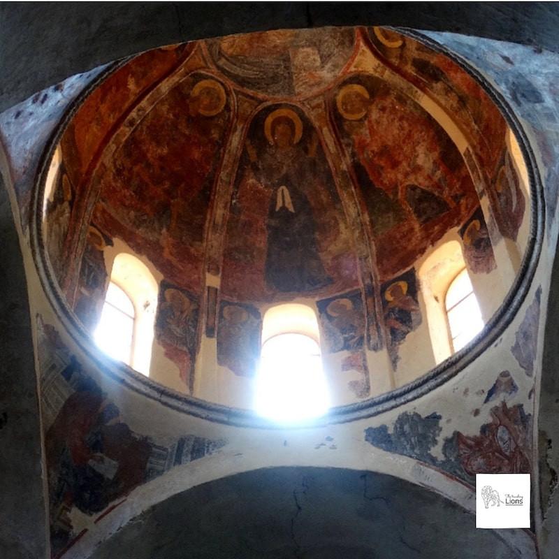 Fresques de l'église saint demeurions, Metropolis, Mystra, Peloponnese