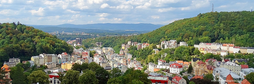 panorama depuis la tour de l'hôtel Imperial de Karlovy Vary