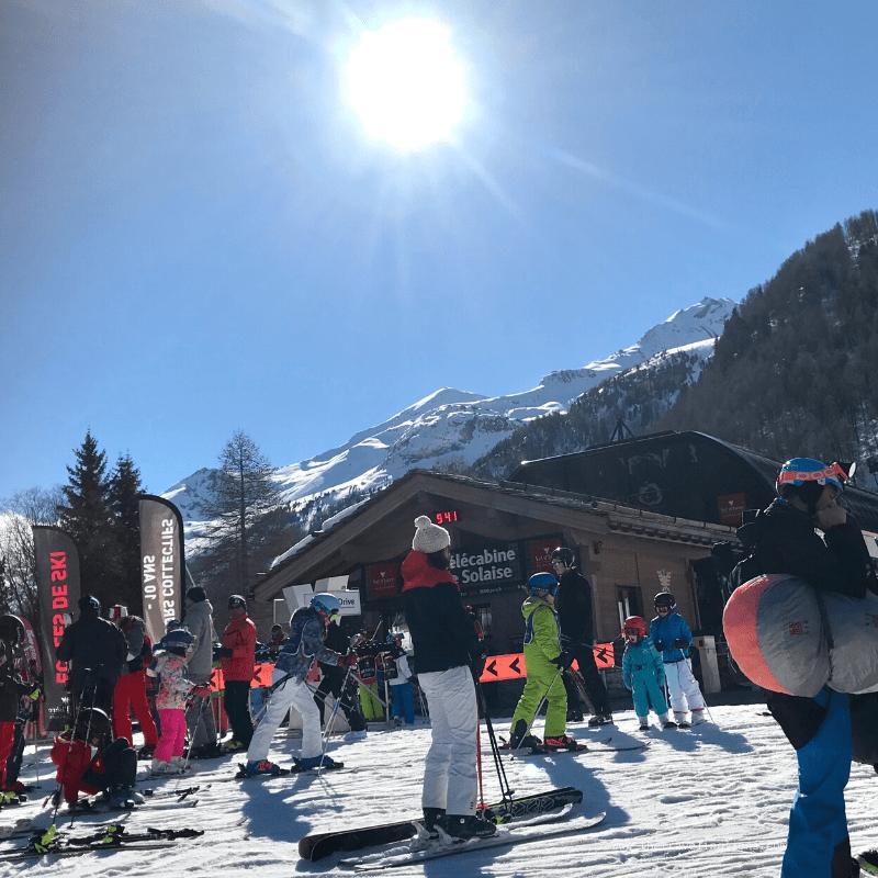Front de neige de Val d'Isère, en avril