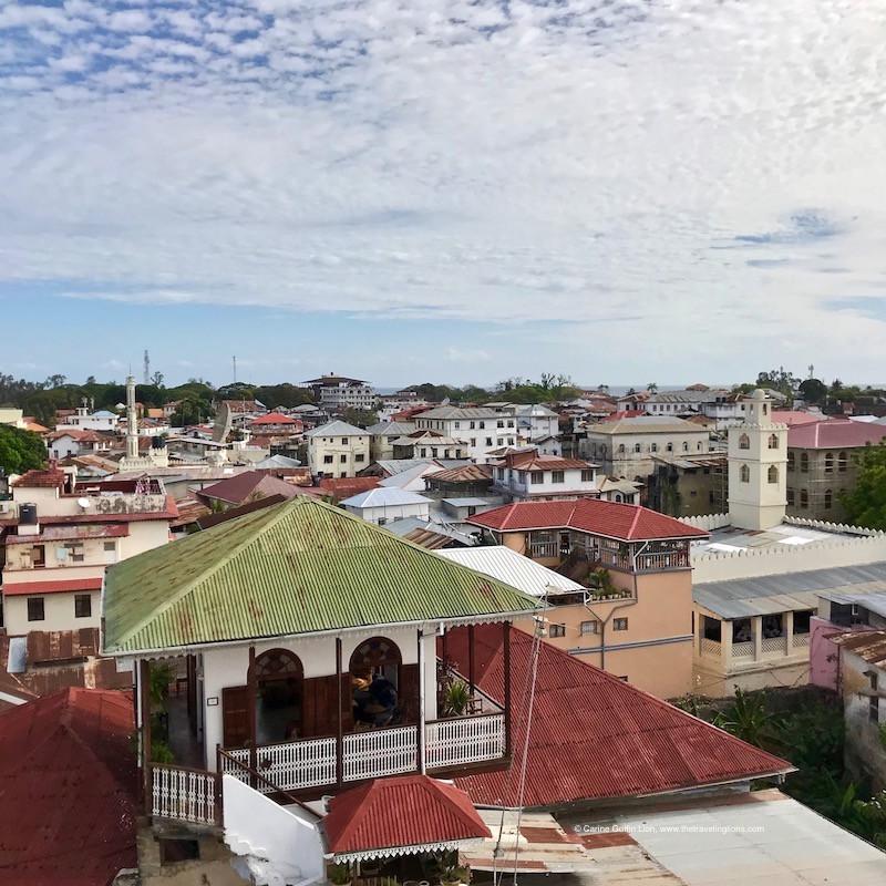 Zanzibar, vu depuis la terrasse panoramique du Swahili House