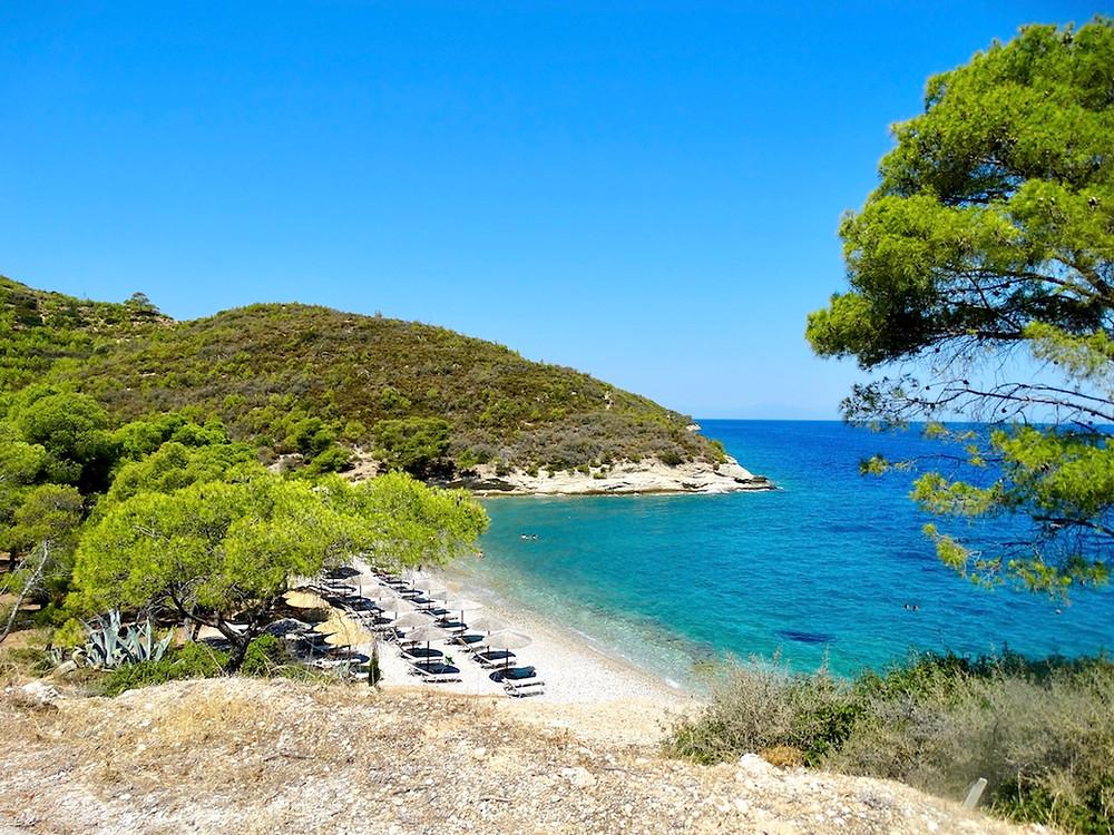 Vrelos beach, Spetses, Grece
