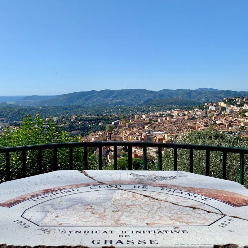 Panorama vu du Jardin de la princesse Pauline, Grasse