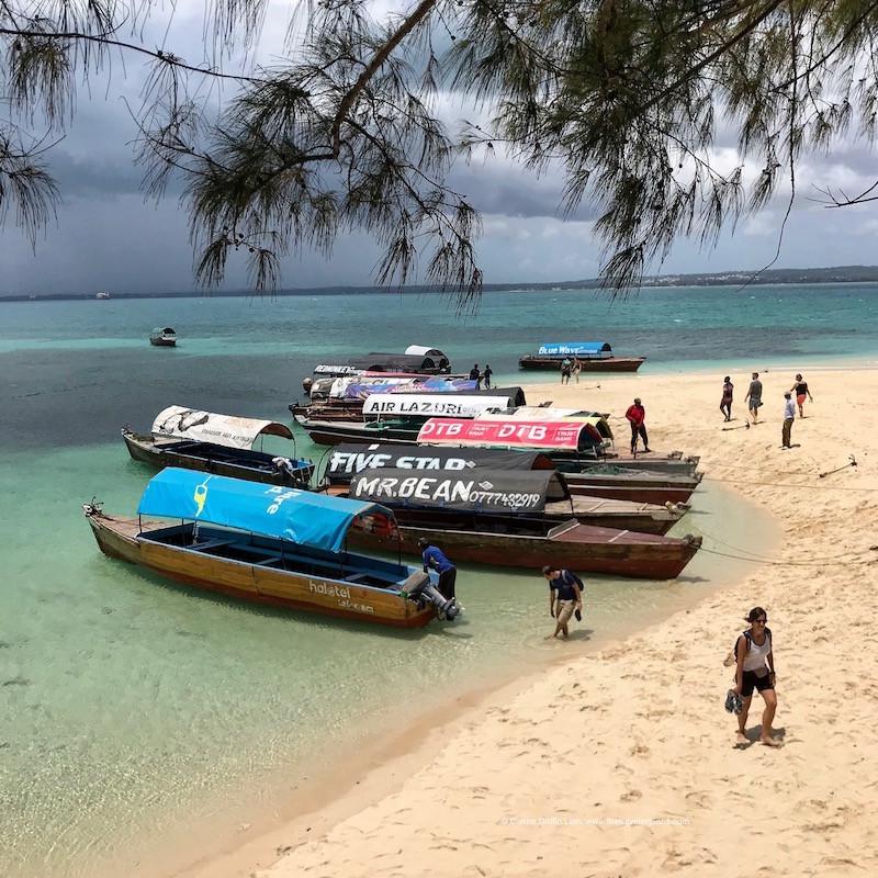 Arrivée des touristes sur l'île de Changuu (Prison Island) , archipel de Zanzibar