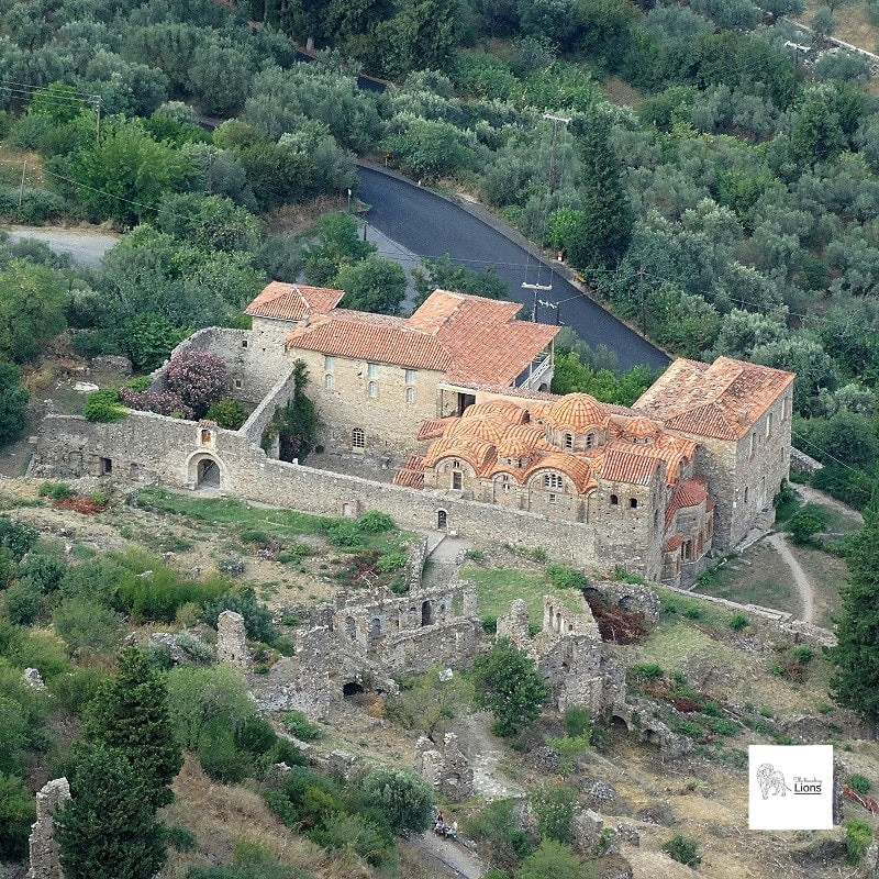 Découvrir Metropolis (Métropole), à l'entrée de la ville basse de la cité byzantine de mystra, Peloponnese, Grece