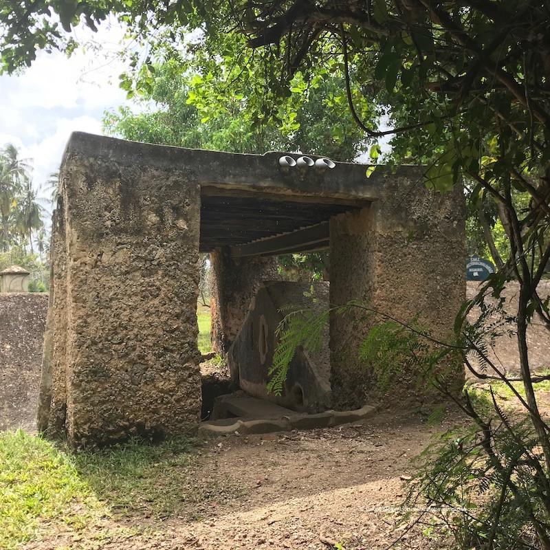 Les chambres d'esclaves de Mangapwani, au nord de l'île d'Unguja.