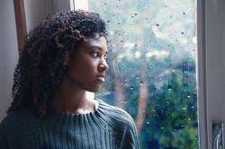 Black woman feeling depression symptoms
