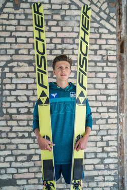 Skispringer im Portrait