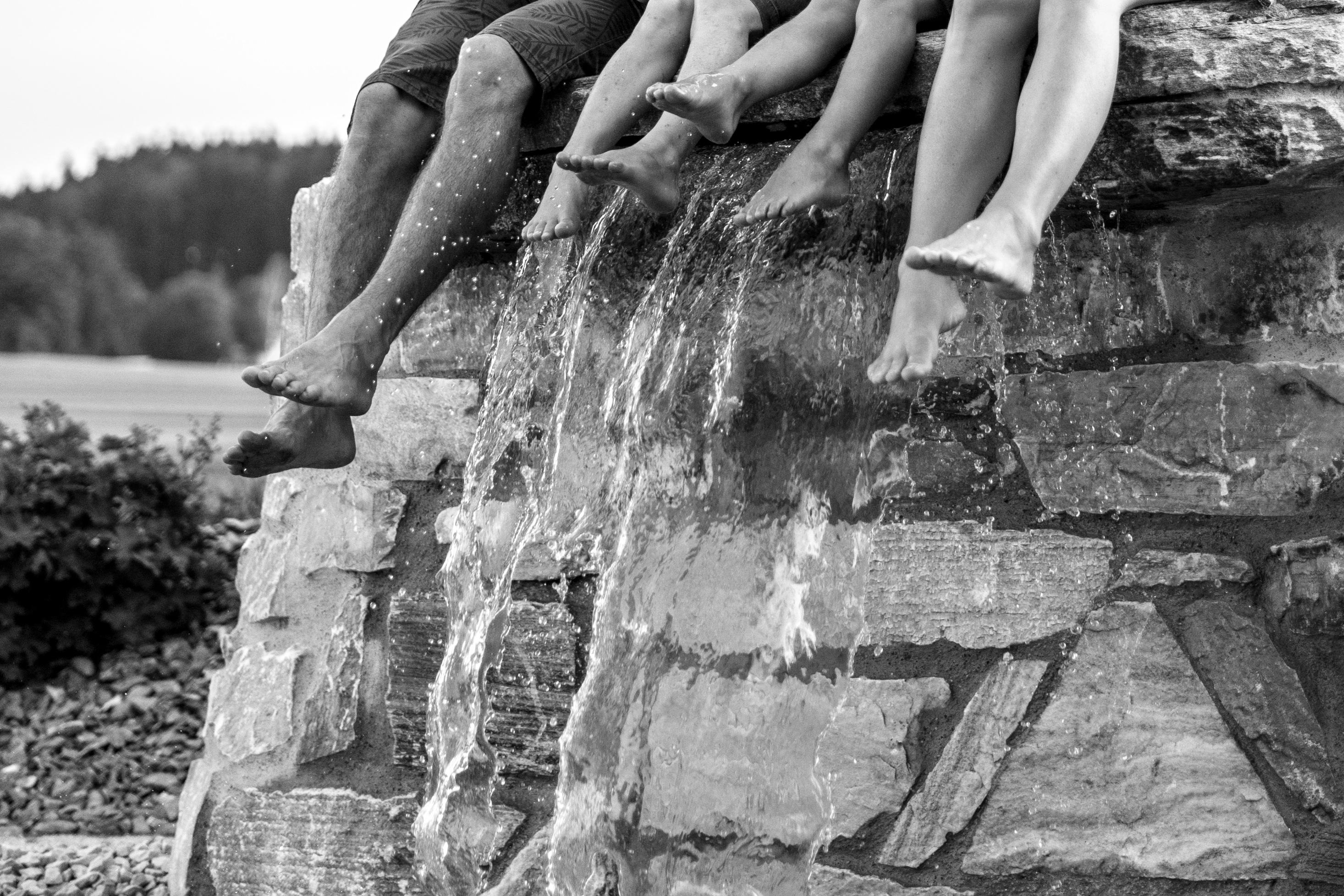 Wasserfallfüße