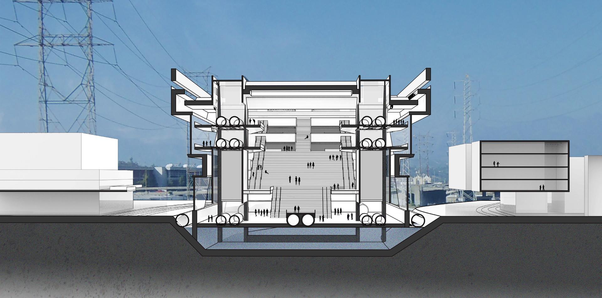 Hyperloop Station, Los Angeles