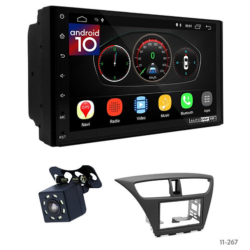 "7"" DSP Car Radio+Fascia Kit Compatible with Honda Civic 12+"