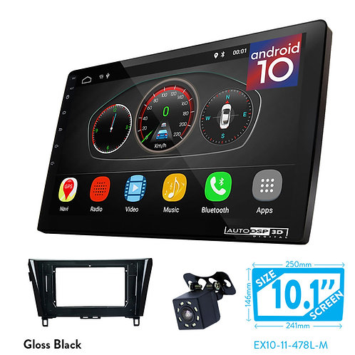 "10"" DSP Car Radio+Fascia Kit Compatible with NISSAN X-Trail, Qashqai, Rogue 2014"