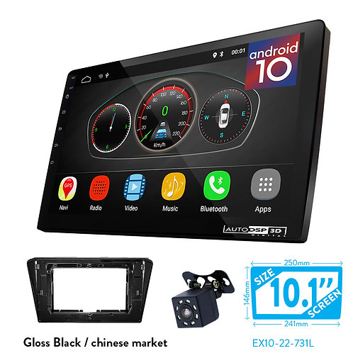 "10"" DSP Car Radio+Fascia Kit Compatible with PEUGEOT (408) 2014+"