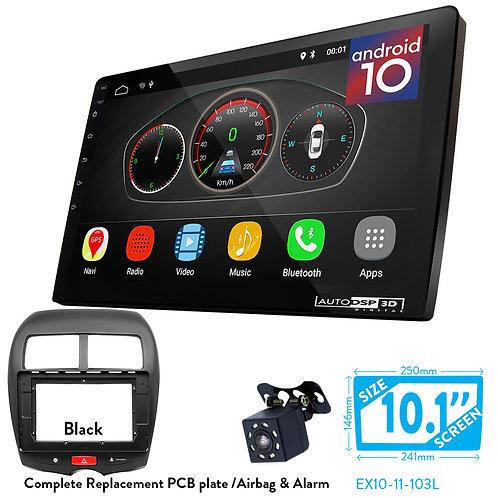 "10"" DSP Car Radio+Fascia Kit Compatible with CITROEN C4/ASX,Outlander/PEUGEOT 40"