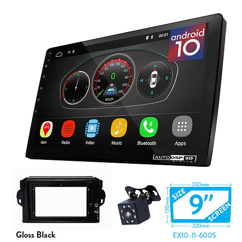 """9"""" DSP Car Radio+Fascia Kit Compatible with TOYOTA Compatible withtuner 2015+; S"""