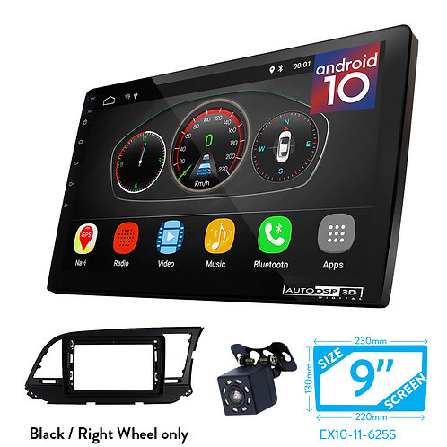 "9"" Android 10 Car Stereo + Fascia Kit for HYUNDAI Elantra (AD) 2016+, Avante"
