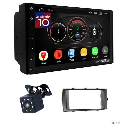 "7"" DSP Car Radio+Fascia Kit Compatible with Toyota Aqua 12-14"