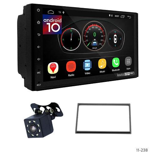 "7"" DSP Car Radio+Fascia Kit Compatible with Nissan Paladin 2003+; Xterra 2001-20"