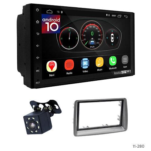 "7"" DSP Car Radio+Fascia Kit Compatible with Fiat Panda (169) 03-12"
