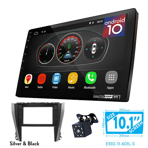 "10"" DSP Car Radio+Fascia Kit Compatible with TOYOTA Camry, Aurion 2015-2018"