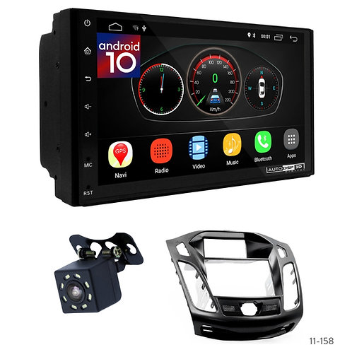 """7"""" DSP Car Radio+Fascia Kit Compatible with Ford Focus III, C-Max 2011+"""