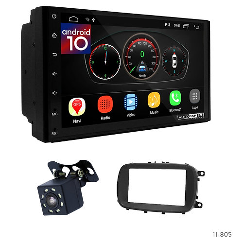 """7"""" DSP Car Radio+Fascia Kit Compatible with Fiat 500X (334) 2015+"""