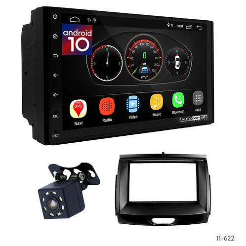"""7"""" DSP Car Radio+Fascia Kit Compatible with Ford Ranger, Everest 15+"""