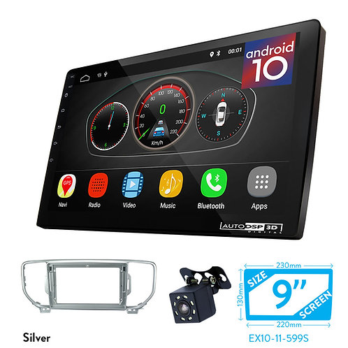 "9"" Android 10 Car Stereo + Fascia Kit for KIA Sportage (QL) 2015-2018; KX5 16-18"