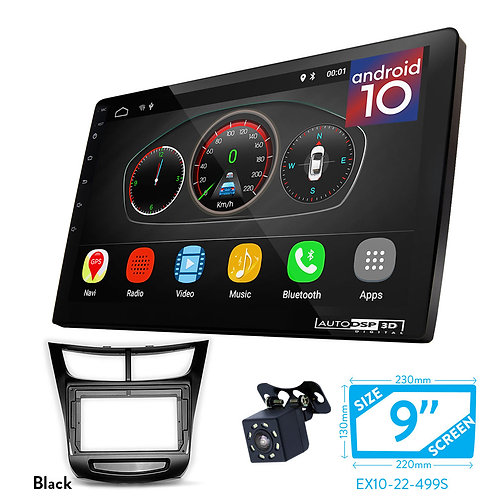 """9"""" DSP Car Radio+Fascia Kit Compatible with CHEVROLET Sail 2014+"""