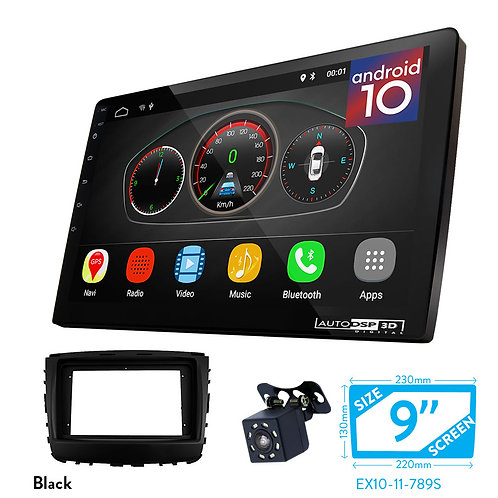 """9"""" DSP Car Radio+Fascia Kit Compatible with SSANG YONG Rexton 2017+; Musso 2018+"""