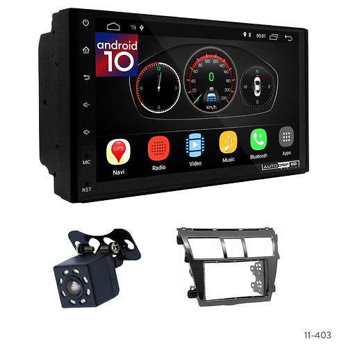 "7"" DSP Car Radio+Fascia Kit Compatible with Toyota Vios, Belta, Yaris Sedan"