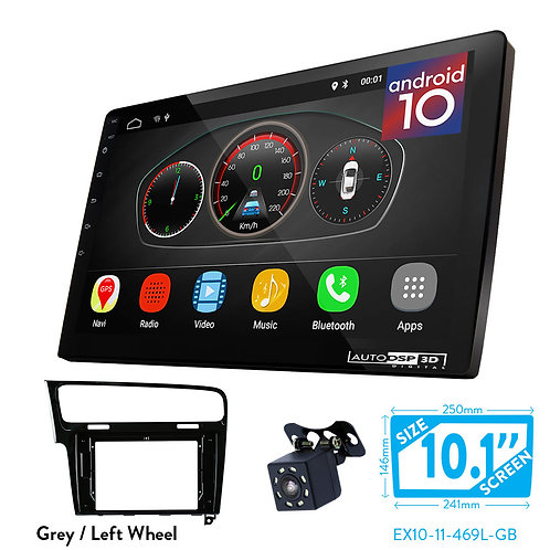 "10"" Android 10 Car Stereo + Fascia Kit for VOLKSWAGEN Golf 7 2012+"